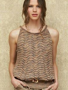 """Chevron Stitch Strappy Top"" from  Sublime #701, The First Sublime Sophia Design Book"