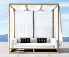 Why Teak Outdoor Garden Furniture? Outdoor Sofa, Canopy Outdoor, Outdoor Furniture, Outdoor Decor, Outdoor Pergola, Pergola Kits, Daybed Canopy, Patio Daybed, Outdoor Cabana
