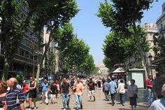 La Rambla is the most famous street in Barcelona.