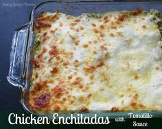 Saucy Jocey's Kitchen: Chicken Enchiladas with Tomatillo Sauce Veggie Enchiladas, A Food, Good Food, Tomatillo Sauce, Winner Winner Chicken Dinner, I Want To Eat, Yummy Eats, Mexican Food Recipes, Main Dishes