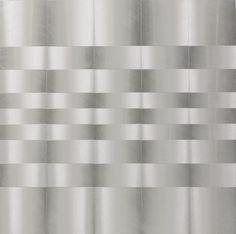 Getulio Alviani Superficie testura vibrante (Vibrant Textured Surface), ca. Aluminum on Fiberboard, 28 x Piero Manzoni, New York Museums, Kinetic Art, Paris Art, Illusion Art, Exhibition Space, Museum Of Modern Art, Op Art, Artist At Work