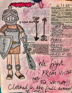Eph 6:10-17 we fight from victory not for victory!!!