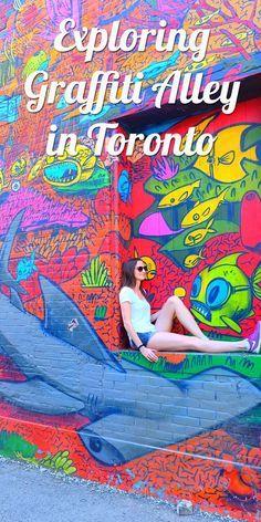 A bit like falling down the rabbit hole of graffiti!I'd just be stuck transfixed in awe! Exploring & enjoying the street art in Toronto Ottawa, Vancouver, Street Style Inspiration, Travel Inspiration, Banff, British Columbia, Canada Toronto, Visit Toronto, Canada Ontario