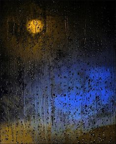 Moon on a rainy night..