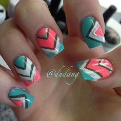 nails nails and more nails Easy Nail Art, Cool Nail Art, Sassy Nails, Great Nails, Stylish Nails, Cute Nail Designs, Creative Nails, Gorgeous Nails, Toe Nails
