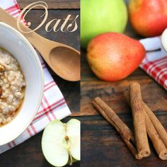 oats with apple and cinnamon