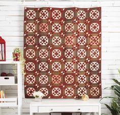 Primitive Gatherings Fabric & Starcrossed Pattern Quilt Kit - Moda