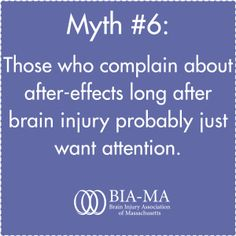 myths DEBUNKED part husband never talks about his brain injury or the after-effects.I don't know if we should talk about it or not. Brain Injury Recovery, Brain Injury Awareness, Stroke Recovery, Symptoms Of Concussion, Post Concussion Syndrome, My Beautiful Broken Brain, Tramatic Brain Injury, Injury Quotes, Brain Aneurysm
