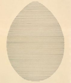 Agnes Martin The Egg, 1963 Ink on paper 8 1/2 x 6 inches (21.6 x 15.2 cm) Courtesy The Elkon Gallery, New York © 2016 Agnes Martin/Artists Rights Society (ARS), New York