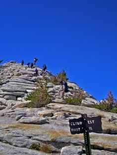 Final ascent to Cloud's Rest from the high country