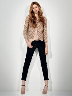 SCEE by TWIN-SET Simona Barbieri: mandarin-collar shirt with printed bows sequin embroidery on collar and pockets and chinos model stretch drill trousers.