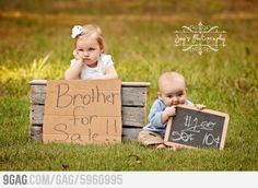 Brother For Sale! Great picture idea for a kids portrait :) hahahaha!