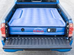 The AirBedz Truck Bed Air Mattress has cutouts on each side allowing it to fit over the wheel wells in your truck's bed. It's great for camping.