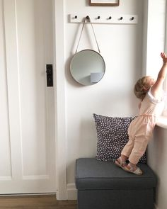 Hallway inspiration, hall decoration, hallway design, hallway interior design, hallway stool, hallway pegs • Always aim high • this one certainly does, she keeps us on our toes with her constant climbing 😬 on a serious note, always look for the… Hallway Inspiration, Hallway Designs, Aim High, Climbing, Stool, Note, Interior Design, Decoration, Furniture