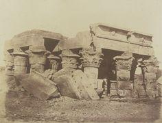 1849-1850 - Koum-Oumbou , Egypt ruines du temple d'Ombos. Photographe : Maxime Du Camp