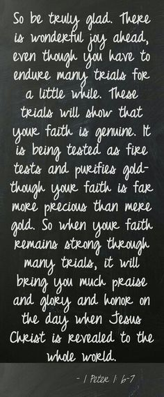 """YOUR FAITH JS MORE PRECIOUS THAN GOLD"""