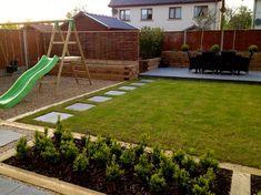 85 Small Backyard Playground Landscaping Ideas on a Budget - Decoradeas Small Garden On A Budget, Garden Design Ideas On A Budget, Small Garden Design, Simple Garden Ideas, Simple Landscape Design, Modern Design, Landscape Edging, Forest Landscape, Landscape Plans