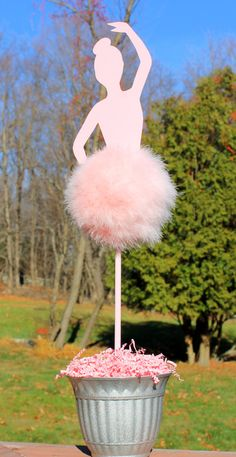 Ballerina table topper centerpiece Marabou by TheShowerPlanner