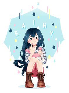 We are, we are, we are Boku no hero girls! Tsuyu Asui, My Hero Academia Tsuyu, Buko No Hero Academia, Hero Academia Characters, Anime Characters, Tsuyu Boku No Hero, Tsuyu Cosplay, Manga, Super Pouvoirs