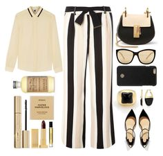 """""""Black and Nude"""" by juliehalloran ❤ liked on Polyvore featuring Dorothy Perkins, Chloé, Christian Louboutin, M Missoni, Bulgari, Byredo, Kenneth Cole, GUESS, Tory Burch and Stila"""