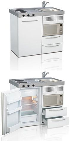 Mini kitchen, compact kitchen, small kitchen, space saving kitchen   Elfin Kitchens