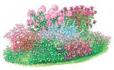 Three perennial beds simply replanted Perennial border purple bell drawing Z … - Modern Hydrangea Garden, Hydrangea Flower, Flowers, Vegetable Garden Planning, Backyard Vegetable Gardens, Raised Garden Bed Plans, Decoration Originale, Heuchera, Planting Vegetables