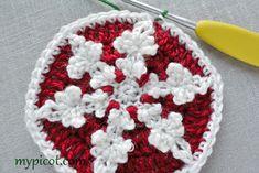 Snowflake motif - MyPicot | Free crochet patterns