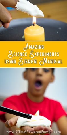 This amazing set of science experiments use a DIY Starlite material and is perfect for grade 7 and up science fair projects and experiments exploring heat transfer and thermal insulation. - Kids education and learning acts Math Activities For Kids, Science Worksheets, Science For Kids, Science Ideas, Amazing Science Experiments, Science Fair Projects, Stem Science, Teaching Science, Physical Science