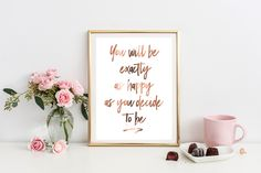 This beautiful Copper Foil Print is the perfect addition to your home decor Wording : You will be exactly as happy as you decide to be ------------------------------------------------------------------------------------------------------ **SPECIAL OFFER ** BUY 2 PRINTS & RECEIVE A