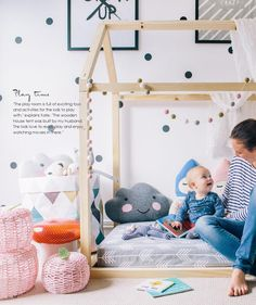 Love this weird house/tent/bed thing! Baby Bedroom, Girls Bedroom, Baby Decor, Kids Decor, House Tent, Scandinavian Kids, Nursery Inspiration, Kid Spaces, Girl Room