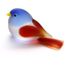 "Medium Murano Art Glass Bird (2 1/2""), $48.00"