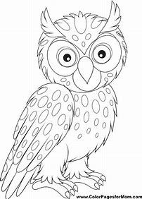 Image result for Hard Owl Coloring Pages
