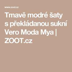 Tmavě modré šaty s překládanou sukní Vero Moda Mya | ZOOT.cz