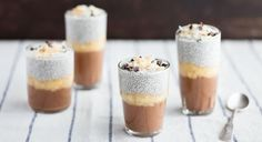 Banana-Chocolate Chia Pudding Parfaits Recipe | We have no words for this goodness (via our friends Thrive Market) #healthydessert #healthysnack