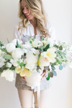 Simple flower arrangements: http://www.stylemepretty.com/living/2015/06/26/summer-diys-infused-with-florals/