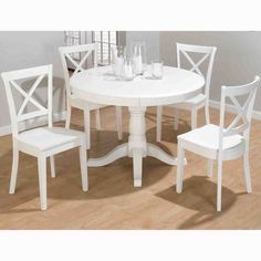 Captivating ikea white round dining table 22 meyercn throughout ikea round kitchen table Modern Dining Room, Dining Chairs, White Dining Room, White Dining Room Sets, White Round Dining Table, Round Extendable Dining Table, White Dining Chairs, White Kitchen Table, Dining Table Chairs