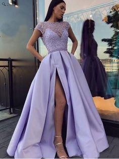Lavender Prom Dresses, Pretty Prom Dresses, Elegant Prom Dresses, Prom Party Dresses, Purple Dress, Evening Dresses, Purple Prom Dresses, Lavender Dress Formal, Formal Dresses