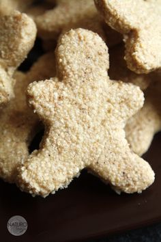 raw coconut-almond gingerbread men