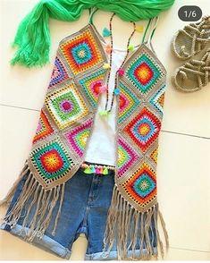 Crochet cardigan sweater pattern granny squares 35 Ideas for 2019 Gilet Crochet, Crochet Coat, Crochet Jacket, Crochet Cardigan, Crochet Granny, Crochet Shawl, Crochet Clothes, Crochet Vests, Gilet Kimono