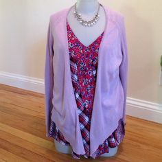 Anthro moth cardigan Thin cotton lilac cardi, no closure size small/  x small size tag missing lovely for this season! Anthropologie Sweaters Cardigans
