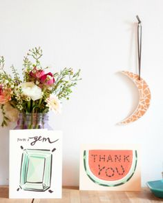 You're a Gem Card and Thank You Card from– The Littlest Fry