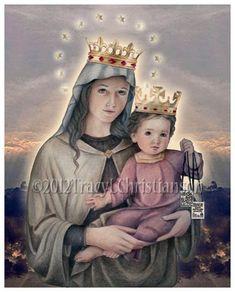 Nostra Signora del Monte Carmelo cattolica di PortraitsofSaints