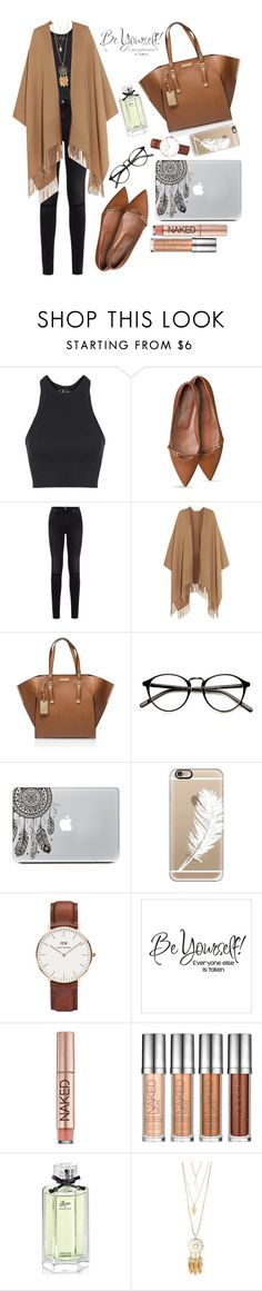 """""""Back to work """" by missjrh ❤ liked on Polyvore featuring Topshop, 7 For All Mankind, Acne Studios, Carvela Kurt Geiger, Casetify, Daniel Wellington, Urban Decay, Gucci, Charlotte Russe and WorkWear"""