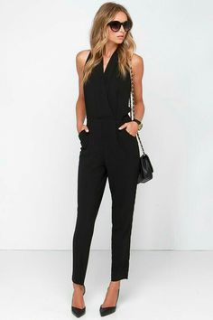 Black Jumpsuit Outfit Picture suit up to chance black jumpsuit clothes fashion outfits Black Jumpsuit Outfit. Here is Black Jumpsuit Outfit Picture for you. Black Jumpsuit Outfit jump start black jumpsuit schwarzer overall schwarzer. Cool Outfits, Fashion Outfits, Fashion Trends, Fashion Moda, Womens Fashion, Spring Work Outfits, Cooler Look, Business Attire, Dress To Impress