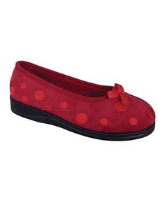 Take a look at this Red Dottie Slipper by Spring Step on #zulily today!