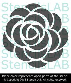 Wall Stencil - Roses Stencil For Wall Decor - Original Flower Stencil – StencilsLab Wall Stencils Stencil Patterns, Stencil Designs, Applique Designs, Embroidery Patterns, Stencil Templates, Rose Stencil, Stencil Diy, Flower Stencils, Custom Stencils