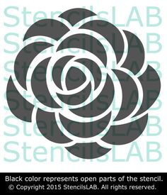 Roses Flowers Stencil for Wall Decor. Reusable by StencilsLabNY