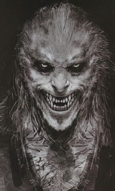 ideas for creepy monster concept art Dark Fantasy Art, Dark Art, Art Zombie, Zombie Mask, Werewolf Art, Werewolf Tattoo, Vampires And Werewolves, World Of Darkness, Creatures Of The Night