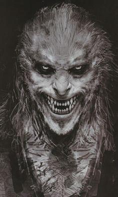 Sinister grin