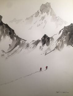 Mountain Pictures, Ink Painting, Mount Everest, Photos, Nature, Travel, Outdoor, Ideas, Mountains